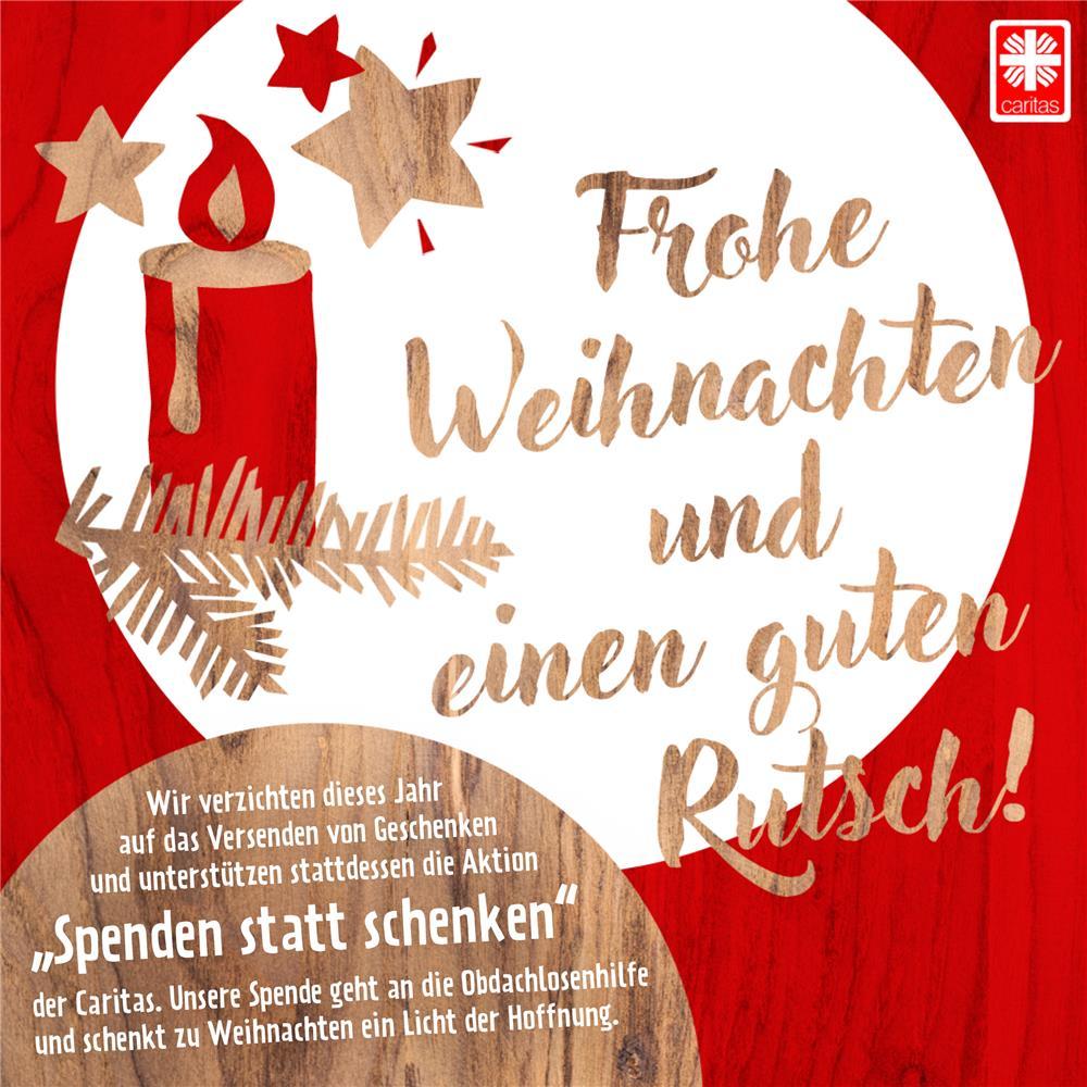 Spenden statt schenken - Weihnachtskarte per mail ...