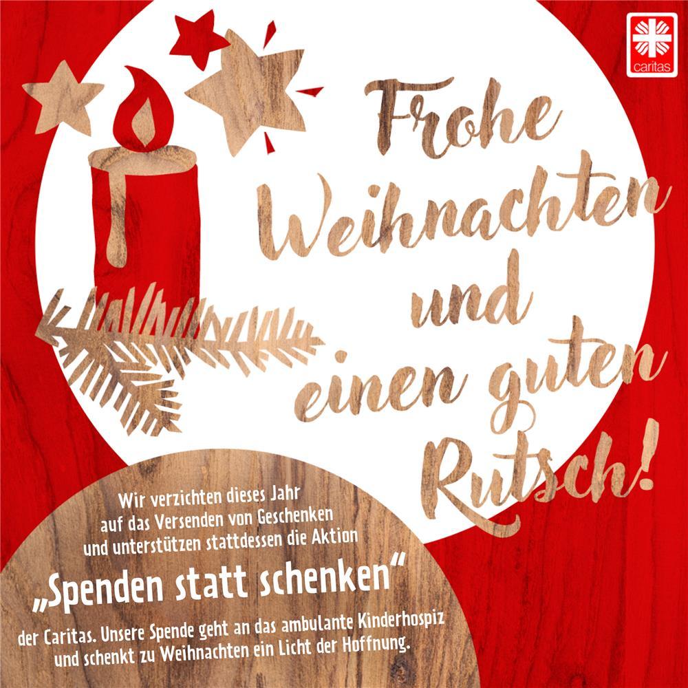 Weihnachtskarten Spende.Spenden Statt Schenken